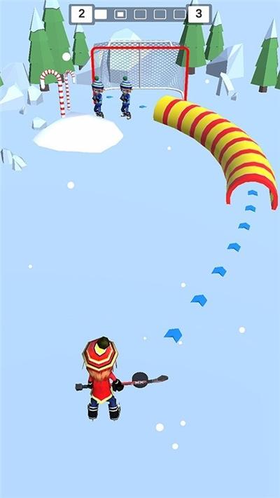 欢乐雪地竞速冰球大作战截图2