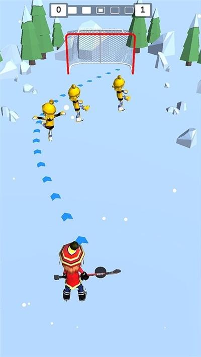 欢乐雪地竞速冰球大作战截图0