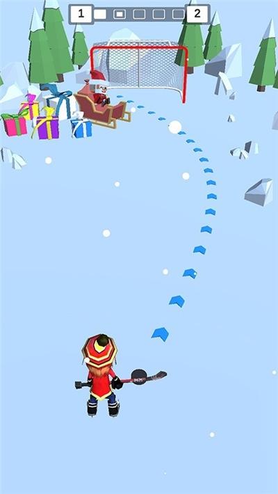 欢乐雪地竞速冰球大作战截图1