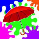染色雨伞大乱斗